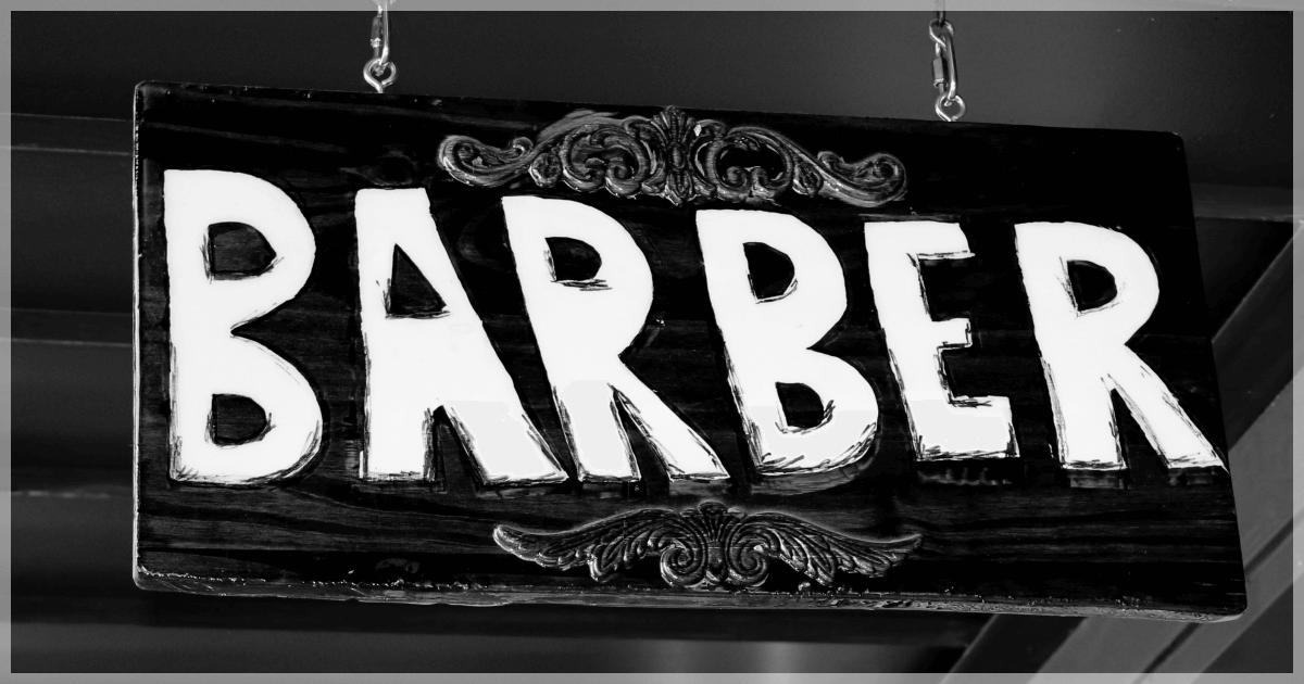 美容室のbarberスタイル
