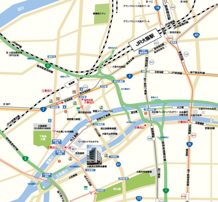 WCJフォーラム会場までの地図